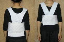 胸元と下半身の補正着 両方つける