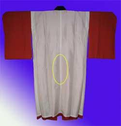 袷長襦袢の背の部分